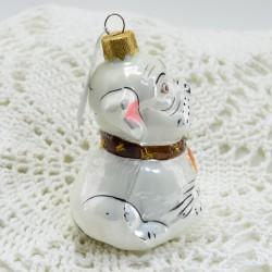 "Елочная игрушка ""Собака бульдог"" 8см.  арт. 5865 ID3793"