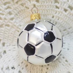 """Ёлочная игрушка """"Футбольный мяч"""" черный 5,5см. 5876 ID4510"""