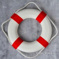 Декоративный спасательный круг d.30см (красный), арт. 4506