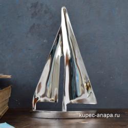 """Фигурка """"Парусник"""" латунь/никель H19*L12см, арт. 5801"""