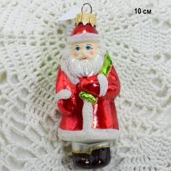 """Елочная игрушка """"Дед Мороз с мешком"""" красный, арт. 1438 ID3811"""