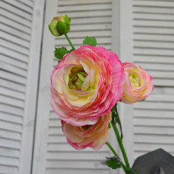 """Цветок искусственный ветка """"Камелия"""" розовая 63 см, арт. 5057/2"""