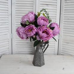 """Цветок искусственный букет """"Пион"""" цвет розовый 52см, арт. 5421"""