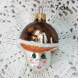 "Елочная игрушка ""Гриб"" коричневый арт. 1447. ID4309"
