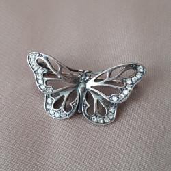 """Брошь """"Бабочка"""" серебрение арт. 4386"""