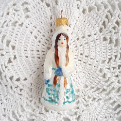 "Елочная игрушка ""Снегурочка"" белая арт. 5306 ID4386"