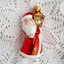 "Елочная игрушка ""Дед Мороз с часами"" арт. 5261 ID4379"