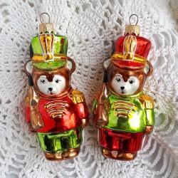"""Елочная игрушка """"Медведь солдат с ружьем"""" красный, арт. 5261 ID3776/4385"""