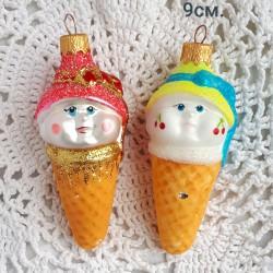 """Елочная игрушка """"Мороженое рожок. Девочка"""" 9см.арт. 1470. ID4382/2019/2"""