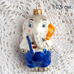 "Елочная игрушка ""Слон"" синий, арт. 3209 ID4191 /1"