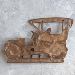"""Вешалка """"Машина"""" на 4 крючка (антик), арт. 0485"""