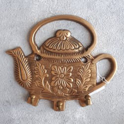 "Вешалка ""Чайник"" на 3 крючка (антик), арт. 4298"