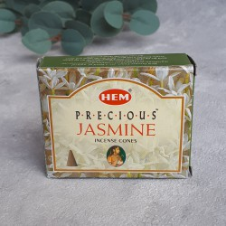 """Благовония """"HEM Precious Jasmine"""" Драгоценный Жасмин, 10 конусов, арт. 0594"""