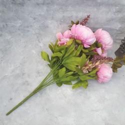 """Цветок искусственный букет """"Пион и гортензия"""" цвет розовый 50см, арт. 4621"""