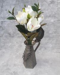 """Цветок искусственный срез """"Магнолия"""" белая 50см, арт. 5693"""