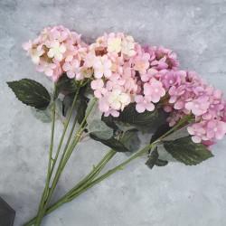 """Цветок искусственный букет """"Гортензия"""" цвет пыльн. роз. 50см, арт. 5692"""