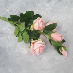 """Цветок искусственный ветка """"Роза"""" персик 73см, арт. 5699"""
