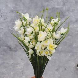 """Цветок искусственный куст """"Подснежник"""" белый 38см, арт. 5697"""