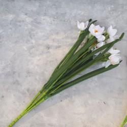 """Цветок искусственный куст """"Нарцисс"""" белый 50см, арт. 5694"""