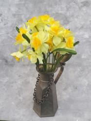 """Цветок искусственный куст """"Нарцисс"""" желтый 45см, арт. 5698"""