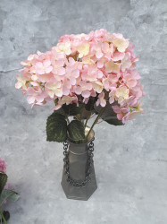 """Цветок искусственный букет """"Гортензия"""" цвет св. роз. 50см, арт. 5692"""