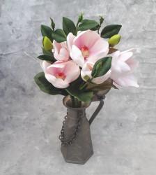 """Цветок искусственный срез """"Магнолия"""" розовая 50см, арт. 5693"""