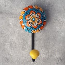 """Вешалка - крючок """"Керамика"""" оранжевый/голубой, арт. 4299"""