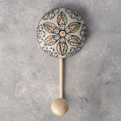 """Вешалка - крючок """"Керамика"""" цветок, арт. 4302"""