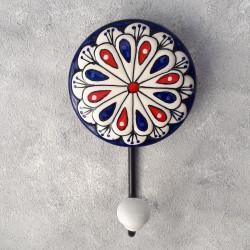 "Вешалка - крючок ""Керамика"" павлиний хвост, арт. 4600"