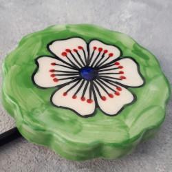 """Вешалка - крючок """"Керамика"""" белый/зеленый, арт. 4300"""