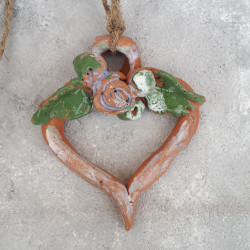 Панно подвеска сердце,  керамика, 5704/