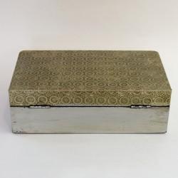 Шкатулка расписная с накладками, 25,3*15*8см., арт. 2023