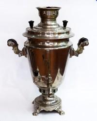 "Латунный самовар на дровах 5 литров форма ""Рюмка"", арт. 2071"