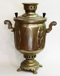 "Самовар на дровах 5 литров форма ""Бочка"" лист, арт. 2080"