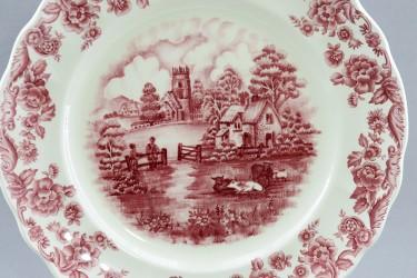 "Тарелка ""Пейзаж. Twilight Passage"" розовое 26см.,  арт. 2092"