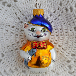 """Елочная игрушка """"Котик с рыбкой"""" арт.6083 ID4717"""