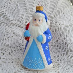 """Елочная игрушка """"Дед Мороз большой"""" нов. син.11,5см.  арт. 6117 ID4737"""