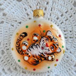 "Елочная игрушка ""Медаль. Тигр"" 6,5см. арт. 6139 ID4755"