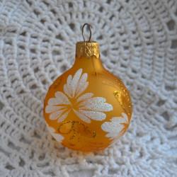 Елочная игрушка шар матовый желт. 5см, 1455/1933