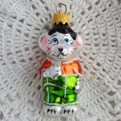 "Елочная игрушка ""Мышонок из Леопольда"" желт/зел., арт. 6093 ID2002/4724"