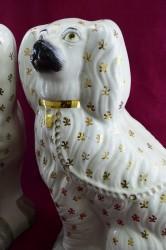 """Статуэтка пара """"Стаффордширская собака спаниель"""" 34см., арт. 2133"""