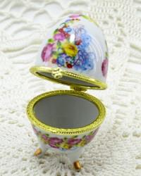 """Шкатулка яйцо под Фаберже """"Полевые цветы"""", арт. 2181"""