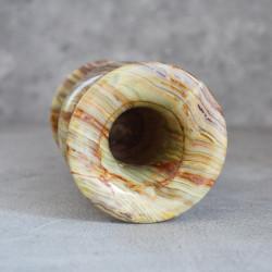 Ваза Оникс камень Н15*7,7см., 890гр. б/у 5939/к