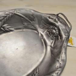 Блюдо с ручками МАК И КОЛОС олово, арт. 2286