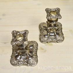"""Подсвечники пара """"Виноград"""" серебрение, арт.2299"""