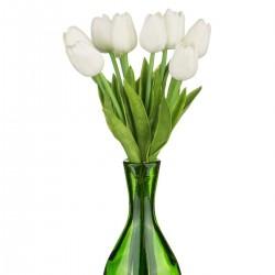 """Набор цветов искусственных из 9шт. """"Тюльпан"""" белый. 33см, арт. 2980"""