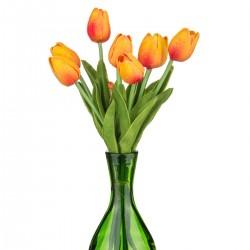"""Набор цветов искусственных из 9шт. """"Тюльпан"""" оранжевый 33см, арт. 2981"""
