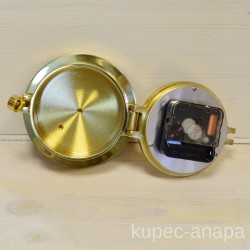 """Часы настенные """"Круг"""" 12см. латунь арт. 2317"""