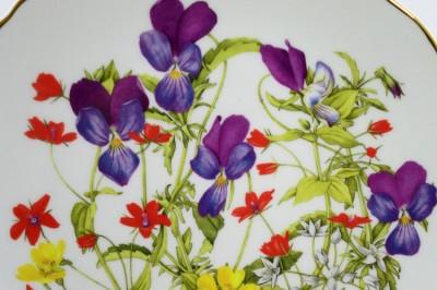 "Тарелка декоративная, набор 3шт. ""Ботаника. Цветы"", арт. 2324"