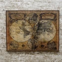 """Картина ретро образ """"Карта мира"""" 92*71*3,5см., арт. 2344"""